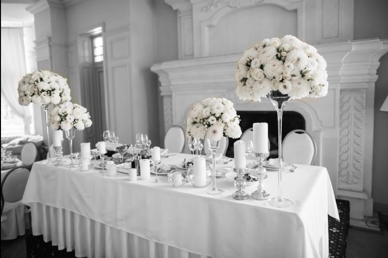 mariage au chateau- la table dhonneur